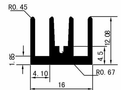 1cm型材散热器